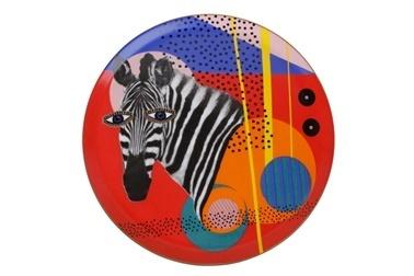 Porland Wild Life Zebra Düz Tabak 28Cm Renkli